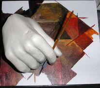 Gegenständlich, Skulptur, Plastik, Hand