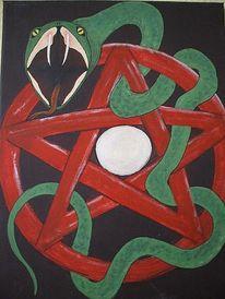 Pentagramm, Hexe, Schlange, Angst
