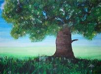Leben, Malerei, Baum, Landschaft