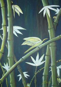 Bambus, Landschaft, Malerei