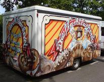 Graffiti, Graffitiauftrag, Zeichnung, Wandgestalten
