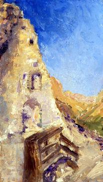 Blau, Malerei, Ruine