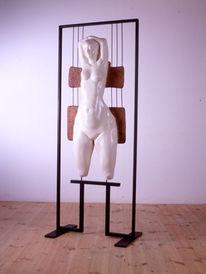 Frau, Kunsthandwerk, Holz, Akt