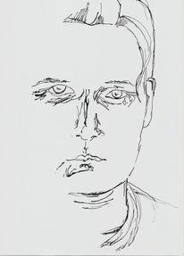 Zeichnung, Tuschmalerei, Skizze, Bambusfeder