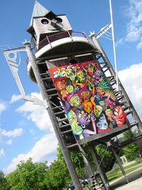 Surreal, Malerei, Acrylmalerei, Turm