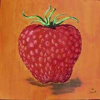 Erdbeeren, Malerei, Stillleben, Obst