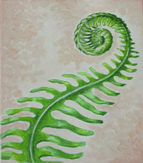 Farne, Grün, Frisch, Malerei