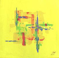 Gelb, Abstrakt, Malerei