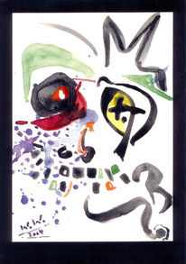 Malerei, Abstrakt, Warten