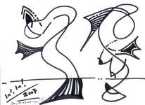 Grafik, Abstrakt, Meerjungfrau