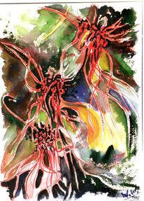 Malerei, Stillleben, Orchidee