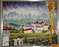 Zeichnungen, Kloster, Bergen