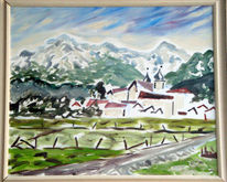 Malerei, Bergen, Kloster