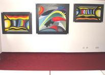 Malerei, Abstrakt, Triptychon