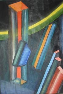 Abstrakt, Malerei, Raum, Körper