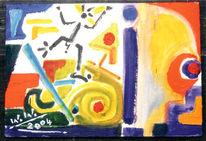 Malerei, Abstrakt, Schamane