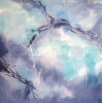 Himmel, Abstrakt, Blau, Malerei