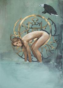 Figural, Frau, Abstrakt, Malerei