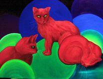 Katze, Ölmalerei, Tiere, Malerei