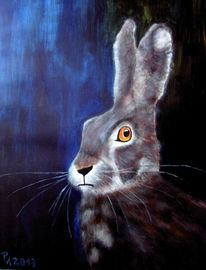 Tier hase acryl, Malerei, Tiere, Hase
