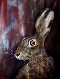 Tiere, Acrylmalerei, Hase, Malerei