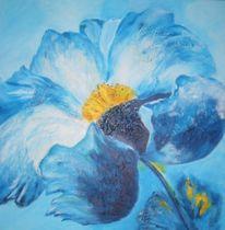 Malerei, Blumen, Blau, Modern