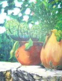 Stillleben, Flair, Gemüse, Kraut