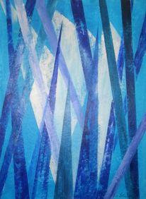 Fantasie, Malerei, Abstrakt, Blau