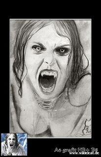 Vampir, Portrait, Zeichnung, Helsing