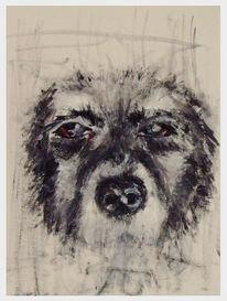 Alt, Skizze, Hund, Malerei