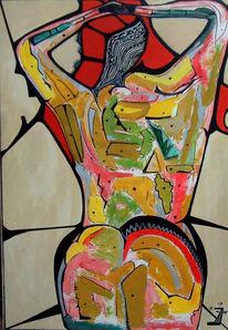Surreal, Malerei, Bunt, Frau