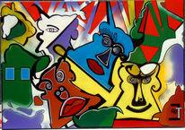 Abstrakt, Malerei, Kuh