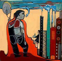 Umweltverschutzung, Surreal, Nikotin, Malerei