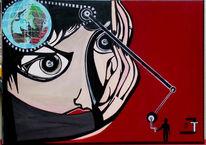 Kopf, Welt, Malerei, Surreal