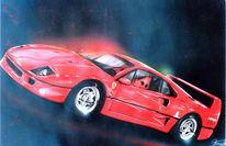 Rot, Airbrush, Ferrari, Auto