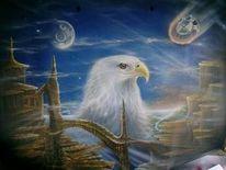 Airbrush, Adler, Bmw, Blau