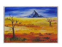 Blau, Landschaft, Berge, Malerei