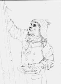 Skizze, Zeichnung, Zeichnungen, Winter