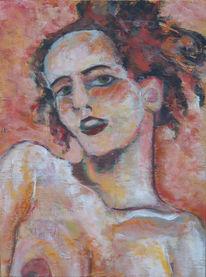 Portrait, Figural, Akt, Frau