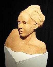 Skulptur, Figural, Frau, Magd