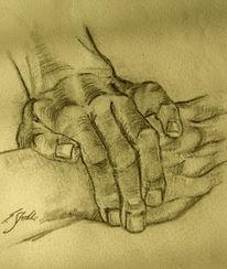 Anatomie, Zeichnung, Hände, Skizze