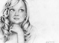 Witherspoon, Portrait, Zeichnung, Zeichnungen