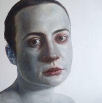 Malerei, Moment, Frau, Portrait