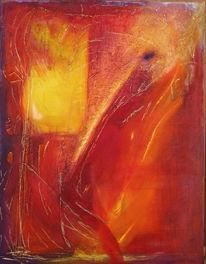 Feuer, Abstrakt, Malerei, Wut
