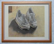 Schuhe, Stillleben, Turnschuhe, Zeichnung