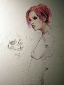 Knochen, Beißen, Zeichnung, Beißen knochen