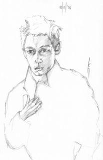Zeichnung, Portrait, Zeichnungen, Alter