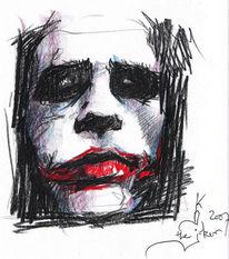 Portrait, Zeichnung, Zeichnungen, Joker