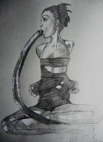 Meditation, Zeichnung, Zeichnungen