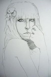 Blumen, Gesicht, Mädchen, Zeichnungen